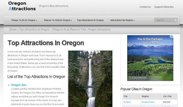 Top Attractions In Oregon